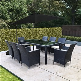 BillyOh Siena 8 Seater Rectangular Outdoor Rattan Dining Set