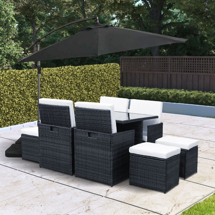 8 Seater Cube - Black