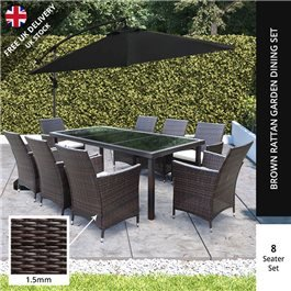 BillyOh Modica 8 Seater Rectangular Outdoor Rattan Dining Set