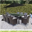 8 Seater Rectangular Dining - Brown