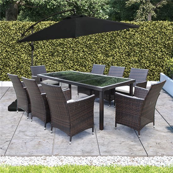 Rectangle Patio Furniture Cover.Billyoh Modica 8 Seater Rectangular Outdoor Rattan Dining Set