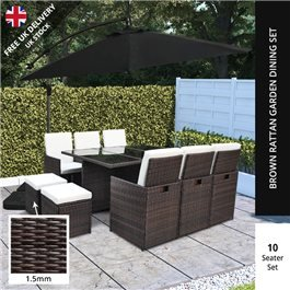 BillyOh Modica 10 Seater Cube Outdoor Rattan Dining Set