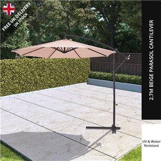 Garden Parasols Bases Umbrellas Metal Wooden