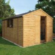Loglap Wooden Shed With Double Doors