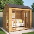 Monte Carlo Wooden Summerhouse Sunroom Range With French Doors