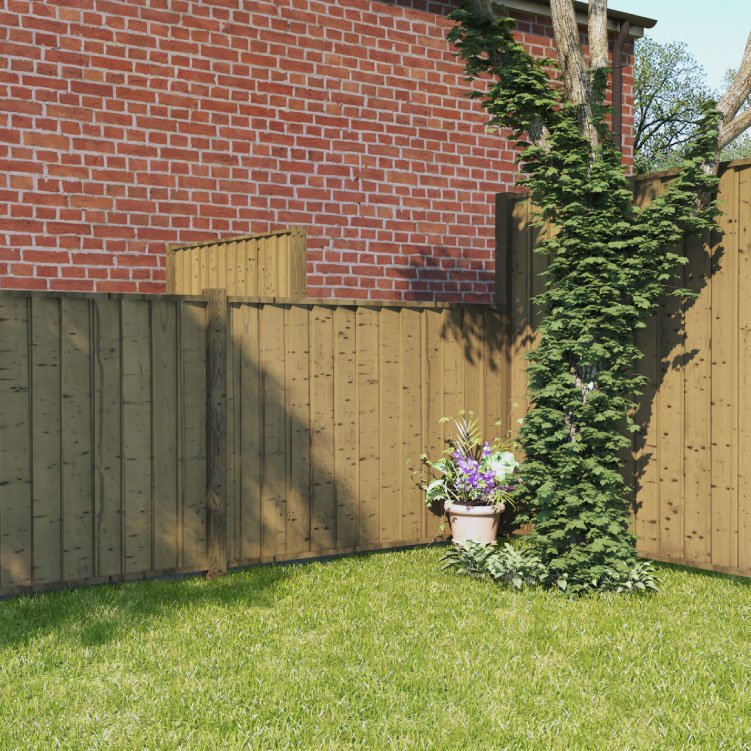 BillyOh 4ft x 6ft Pressure Treated Closeboard Fence Panel