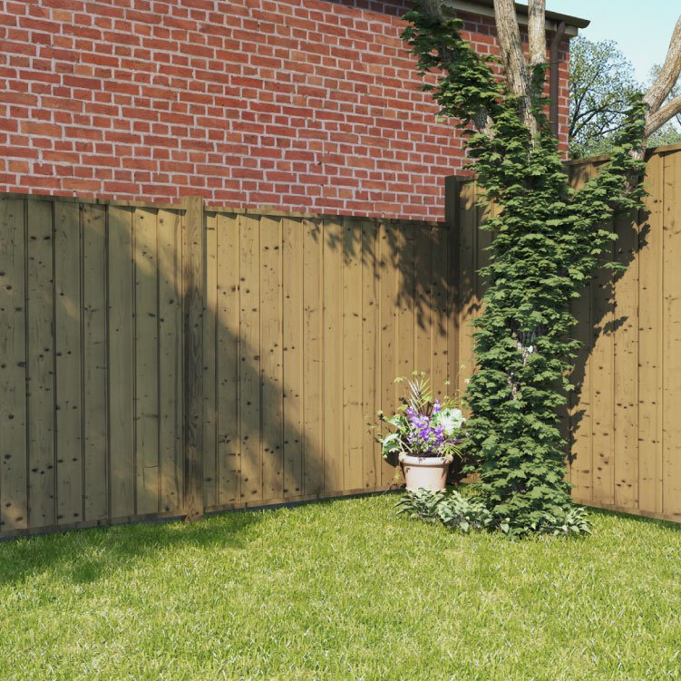 BillyOh 5ft x 6ft Pressure Treated Closeboard Fence Panel
