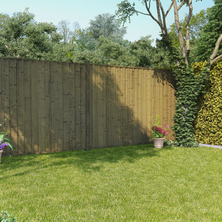 BillyOh 6ft x 6ft Pressure Treated Closeboard Fence Panel