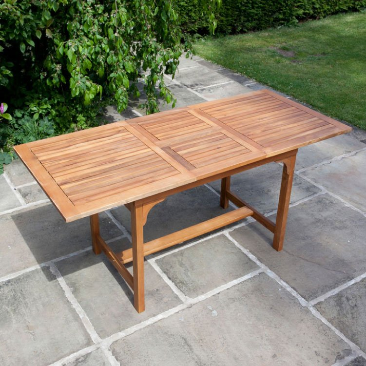 BillyOh Windsor 1.6m Extending Rectangular Garden Table