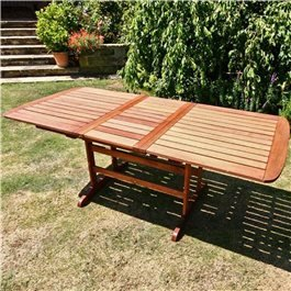 BillyOh Windsor 1.5m Extending 2m Butterfly Wooden Garden Table
