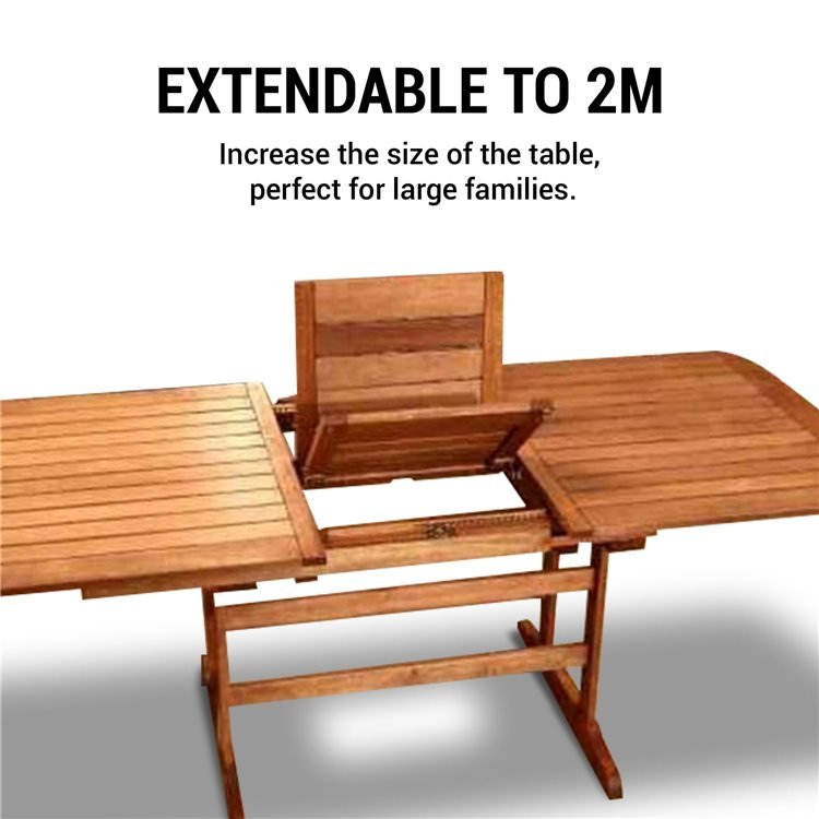This Patio Table is Extendable to 2m
