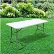 BillyOh 6ft Heavy Duty Plastic Folding Outdoor Trestle Picnic Table