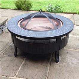 BillyOh 3 in 1 Round Brazier Fire Pit Charcoal Patio Heater BBQ