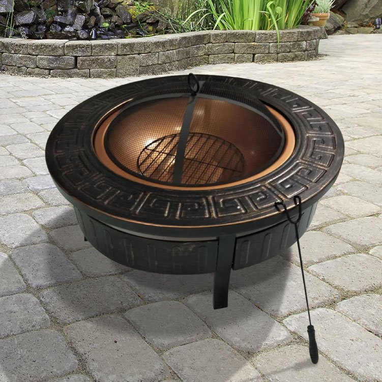 BillyOh 3 in 1 Round Brazier Fire Pit Portable Charcoal BBQ
