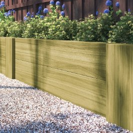 BillyOh Pressure Treated 2.4m Railway Sleeper Decking Boards