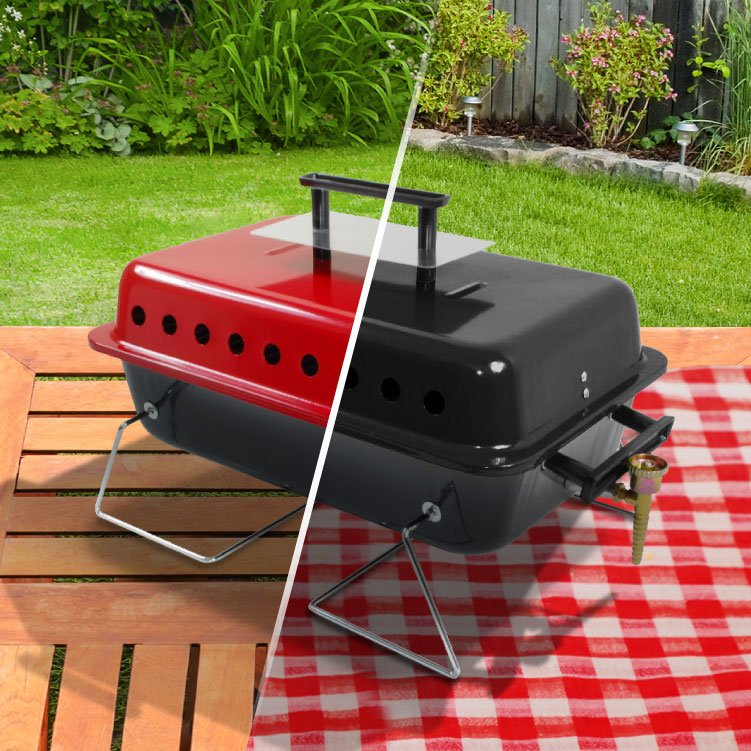 BillyOh Table Top Portable Gas BBQ - Black or Red