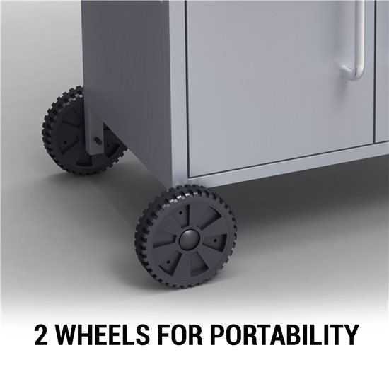 This Portable Barbecue comes with 2 Castor Wheels