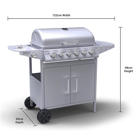 Dimensions of BillyOh Steel Gas Barbeque