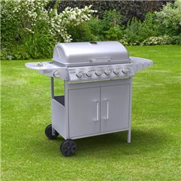 BillyOh Matrix 6+1 Hooded Gas BBQ with Side Burner - Silver