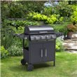 BillyOh Matrix 4+1 Hooded Gas BBQ with Side Burner - Black