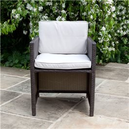 BillyOh Rosario Cube Dining Chairs - 2 Rattan Dining Chairs in Brown with Cushions