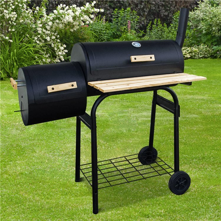 Oil Drum BBQ with Offset Smoker