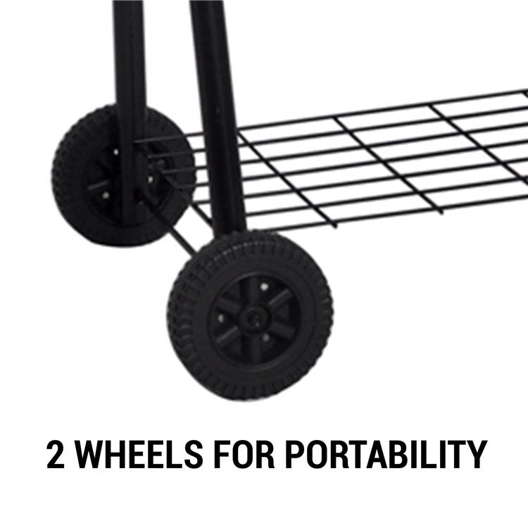 This Portable Charcoal Drum BBQ has 2 Castor Wheels for Easy Movement.