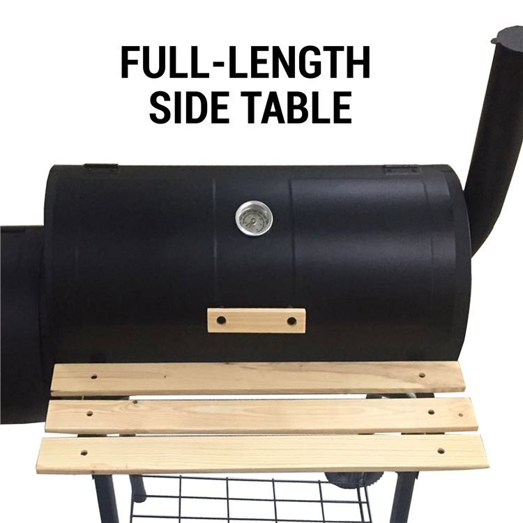 This Charcoal Grill BBQ has A Large Side Table for Convenience.