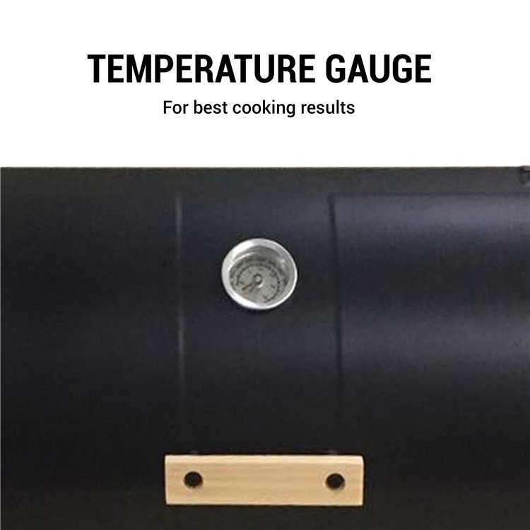 Oil Drum Grill includes Thermometer for Best Cooking Results