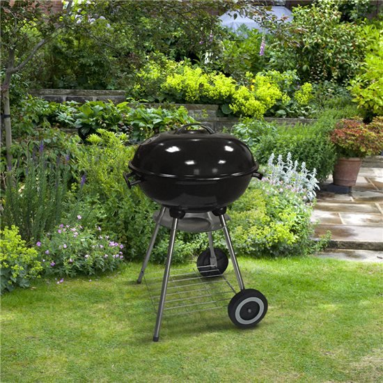 BillyOh Kettle BBQ Charcoal Grill Portable Outdoor Barbecue Black Round 44cm