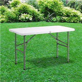 BillyOh 4ft Heavy Duty Plastic Folding Outdoor Trestle Picnic Table