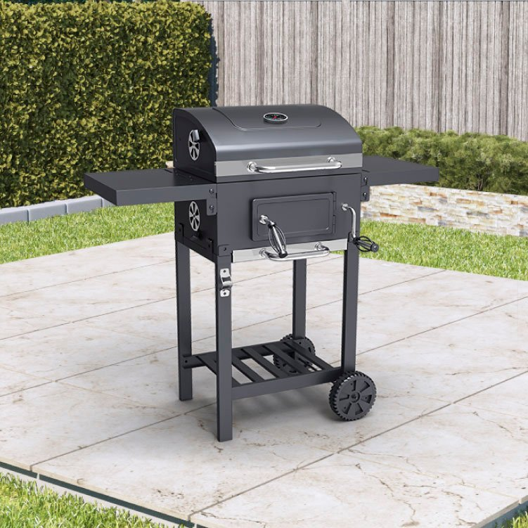 BillyOh Kentucky Smoker BBQ Charcoal Grill Outdoor Barbecue with Shelves 102x104.5x70cm