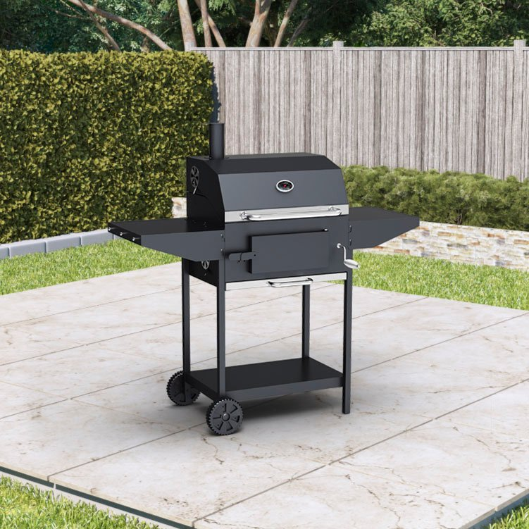 BillyOh Kentucky Smoker BBQ Charcoal Grill Outdoor Barbecue with Shelves 124x113x66cm