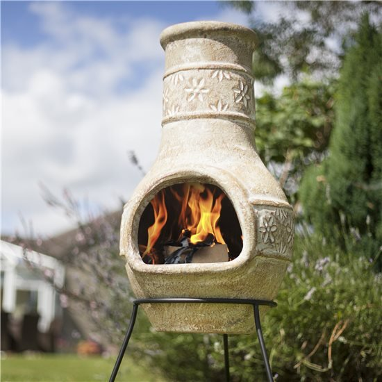 BillyOh Star Flower Medium Clay Chimenea