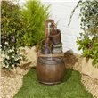 BillyOh Pouring Barrels Garden Water Feature with Pump & LED lights 57.5x27x27cm