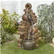 BillyOh Flowing Jugs Outdoor Garden Water Feature with Pump & LED lights 105x43x40cm