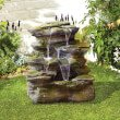 BillyOh Como Springs Outdoor Garden Water Feature with Pump & LED lights 54x49x49cm