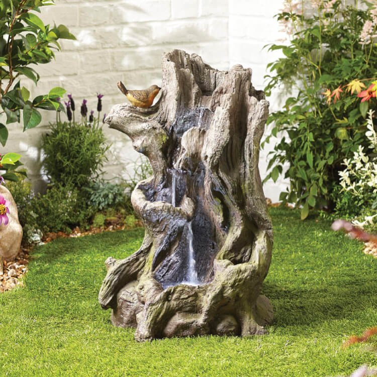 BillyOh Willow Spills Outdoor Garden Water Feature with Pump & LED lights 73x40x52cm