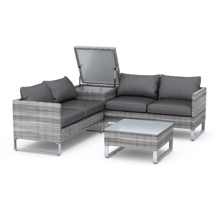 BillyOh Salerno Rattan Outdoor Garden Furniture Corner Sofa ...