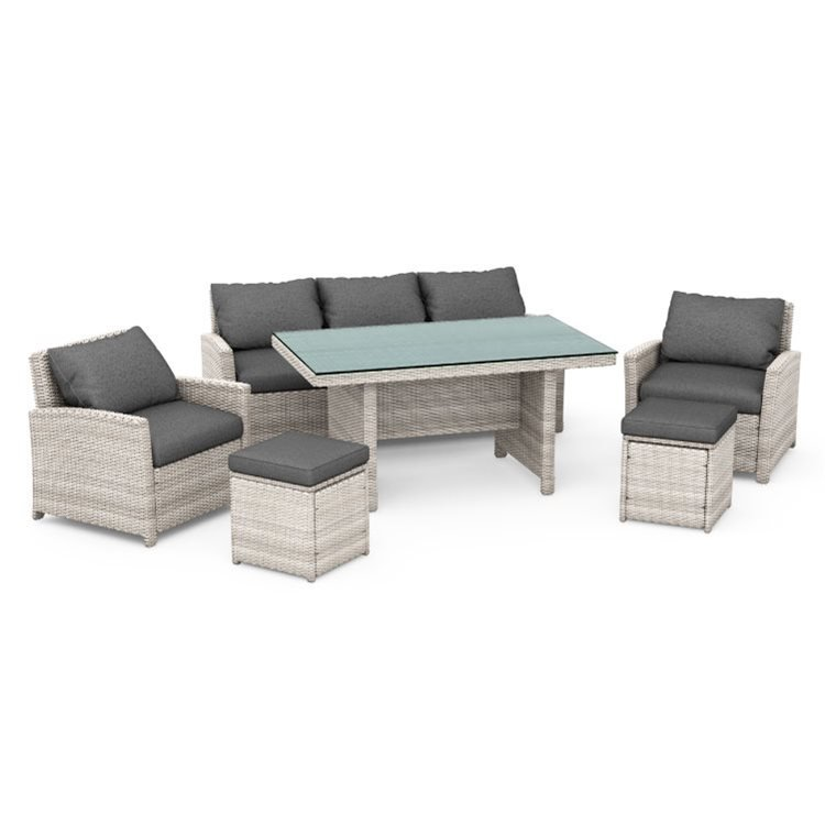 BillyOh Minerva 7 Seater Outdoor Rattan Garden Dining Sofa Set