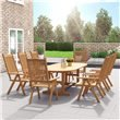 BillyOh Windsor 1.8m Extending 2.3m Folding Wooden Oval Outdoor Dining Set- 6 -8 Seater Set