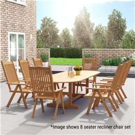 BillyOh Windsor 2m-2.8m Extending Garden Dining Set. Extendable Table with 6/8/10 Chairs