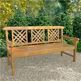BillyOh Windsor 3 Seater Outdoor Wooden Lattice Back Garden Bench