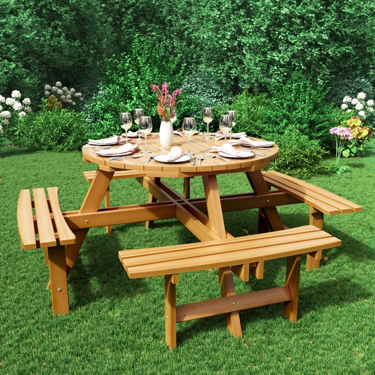 BillyOh Windsor 8 Seater Wooden Picnic Table
