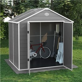 BillyOh Kingston Apex Plastic Shed Light Grey With Floor