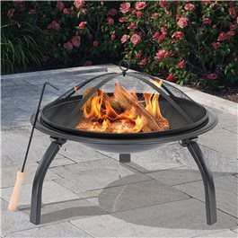 BillyOh Oakland Small Round Foldable Steel Fire Pit