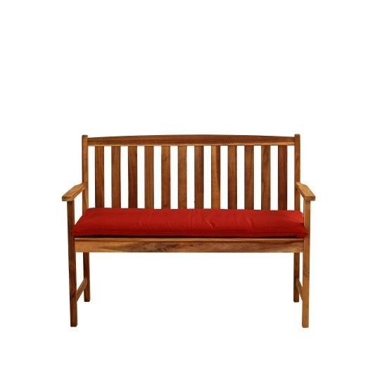Alexander Rose Monte Carlo Bench with Terracotta Cushion