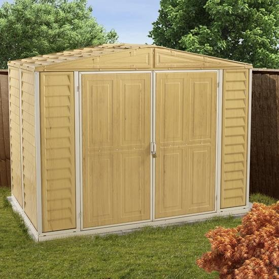 BillyOh Retford 8' Fronted Woodgrain Effect Plastic Shed