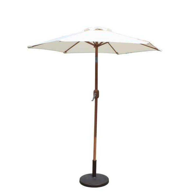 BillyOh 2m, 2.5m or 3m Aluminium Crank and Tilt Wood Effect Parasol - Natural