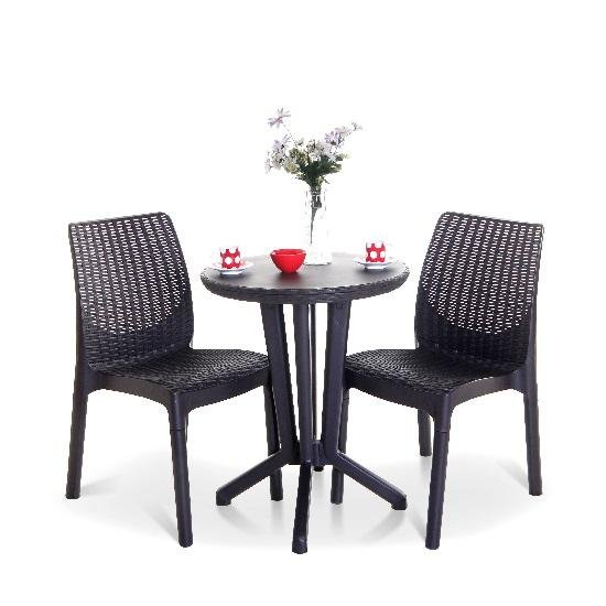 Keter Rattan Style 2 Seater Bistro Set